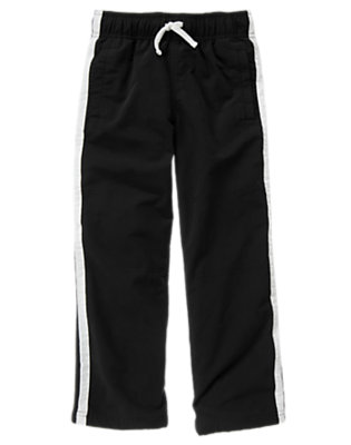 Black Stripe Lined Active Pant by Gymboree