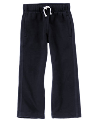 Boys Gym Navy Fleece Active Pant by Gymboree