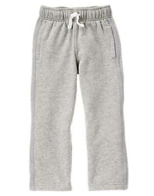Heather Grey Fleece Active Pant by Gymboree