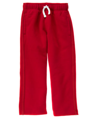 Boys Flag Red Fleece Active Pant by Gymboree