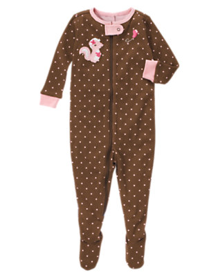Chocolate Brown Baby Skunk One-Piece Gymmies® by Gymboree