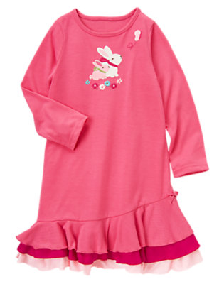 Toddler Girls Bunny Pink Bunnies Pajama Gown by Gymboree