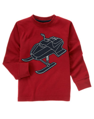 Holiday Red Sled Tee by Gymboree