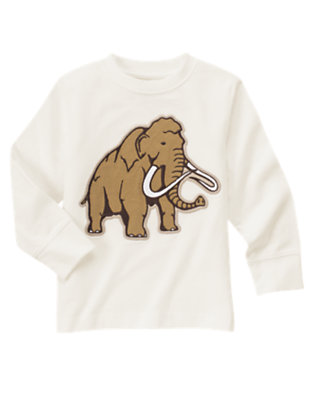 Ivory Woolly Mammoth Tee by Gymboree
