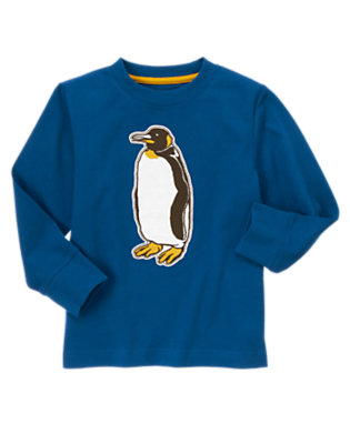 Royal Blue Penguin Tee by Gymboree