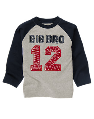 Heather Grey Big Bro Tee by Gymboree