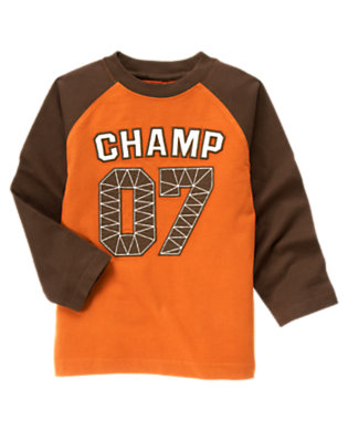 Orange Champ Tee by Gymboree