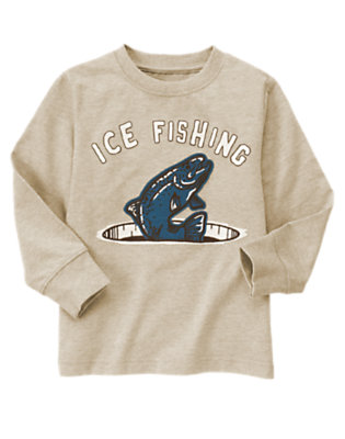 Tan Heather Ice Fishing Tee by Gymboree