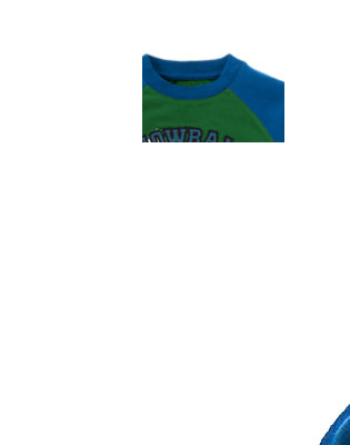 Pine Green Snowball Fight Champ Tee by Gymboree