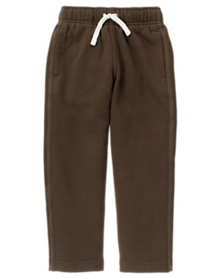 Chocolate Brown Fleece Active Pant by Gymboree