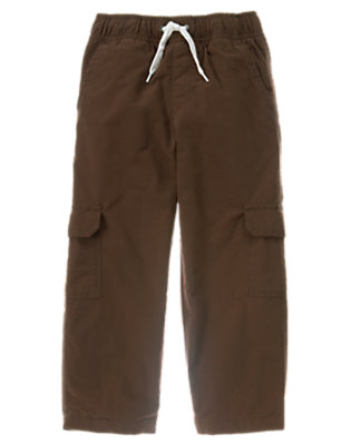 Chocolate Brown Lined Cargo Active Pant by Gymboree