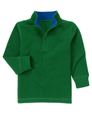 Pine Green Half Zip Pullover by Gymboree