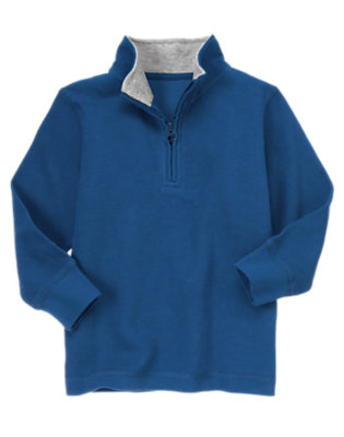 Royal Blue Half Zip Pullover by Gymboree