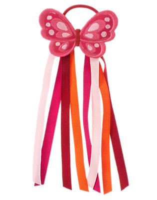 Raspberry Pink Butterfly Streamer Pony Holder by Gymboree