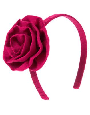 Raspberry Pink Ribbon Rosette Headband by Gymboree
