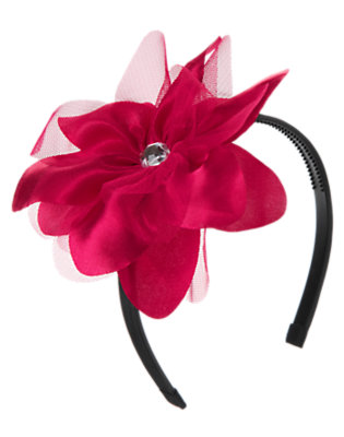 Raspberry Pink Gem Flower Corsage Headband by Gymboree