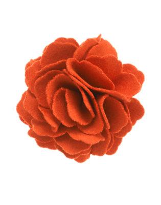 Girls Poppy Orange Felt Flower Pony Holder by Gymboree