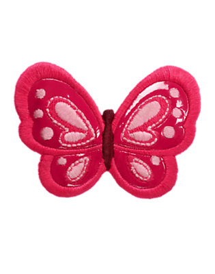Raspberry Pink Butterfly Hair Clip by Gymboree