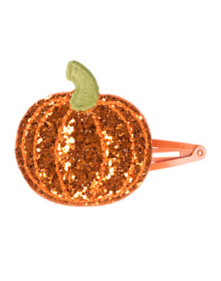 Pumpkin Orange Glitter Glitter Pumpkin Hair Clip by Gymboree