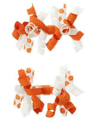 Pumpkin Orange Pumpkin Hair Curlies Two-Pack by Gymboree