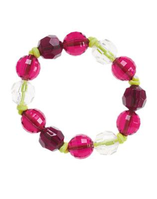 Girls Bright Plum Berry Patch Gem Bauble Bracelet by Gymboree