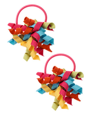 Girls Autumn Pink Curly Pony Holder Two-Pack by Gymboree