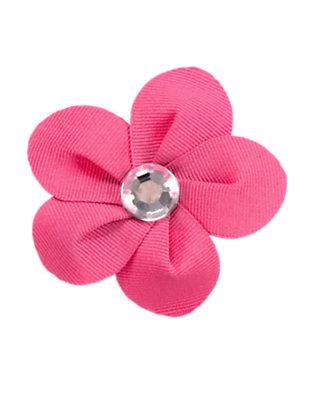 Girls Autumn Pink Gem Flower Hair Clip by Gymboree