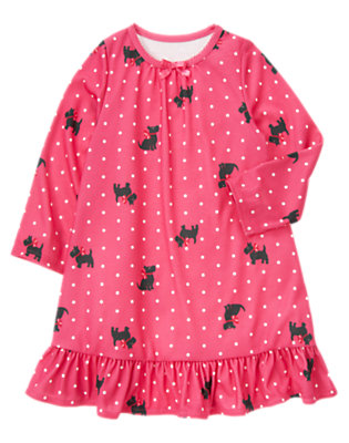 Cheery Pink Scottie Dog Pajama Gown by Gymboree