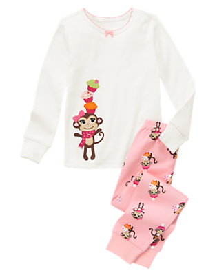 Candy Pink Sweet Monkey Two-Piece Gymmies® by Gymboree