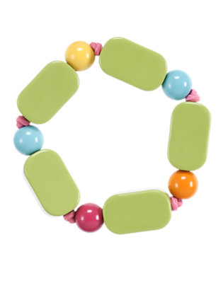 Acorn Green Rectangle Bead Bracelet by Gymboree