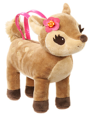 Girls Fawn Brown Deer Plush Purse by Gymboree