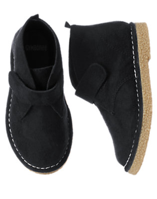 Toddler Boys Black Faux Suede Desert Boot by Gymboree