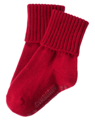 Boys Holiday Red Foldover Sock by Gymboree