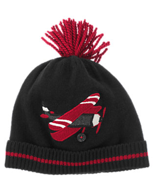 Black Airplane Sweater Hat by Gymboree
