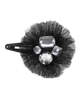 Black Gem Tulle Hair Clip by Gymboree
