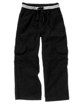 Black Drawstring Cargo Pant by Gymboree