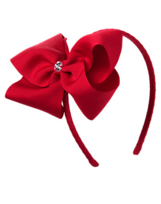 Girls Holiday Red Gem Bow Headband by Gymboree
