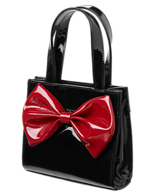 Girls Black Bow Patent Purse by Gymboree