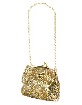 Girls Glitter Gold Bow Glitter Purse by Gymboree