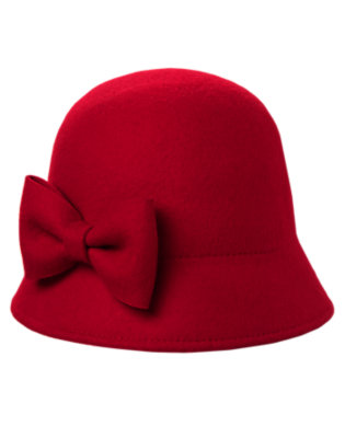 Holiday Red Bow Cloche Hat by Gymboree