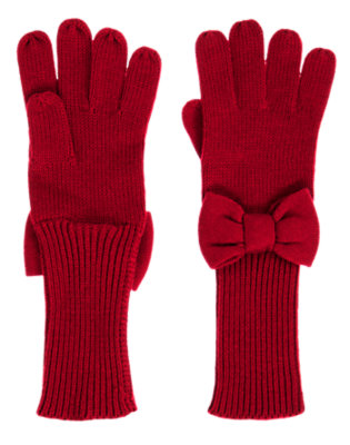 Holiday Red Bow Sweater Glove by Gymboree