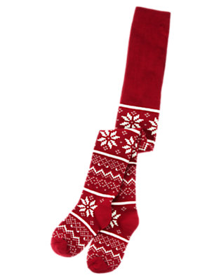 Girls Holiday Red Fair Isle Fair Isle Tight by Gymboree