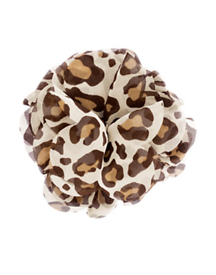 Girls Ivory Leopard Leopard Chiffon Corsage Hair Clip by Gymboree