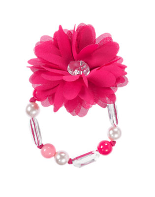 Girls Chic Pink Gem Flower Corsage Bracelet by Gymboree
