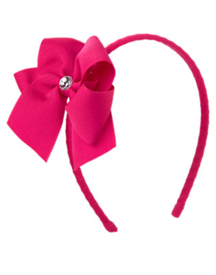 Girls Chic Pink Gem Bow Headband by Gymboree