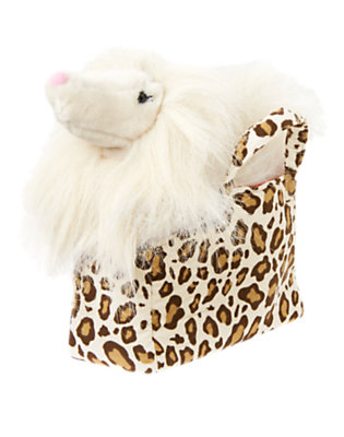Girls Ivory Leopard Plush Dog Carrier Bag by Gymboree