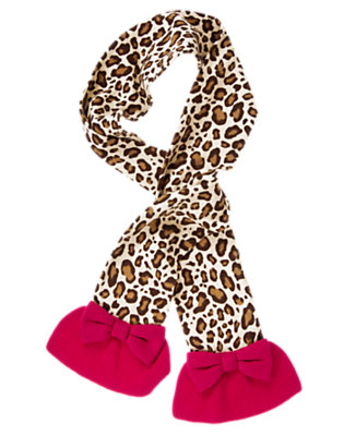 Ivory Leopard Leopard Sweater Scarf by Gymboree