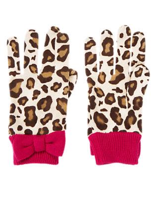 Girls Ivory Leopard Leopard Sweater Glove by Gymboree