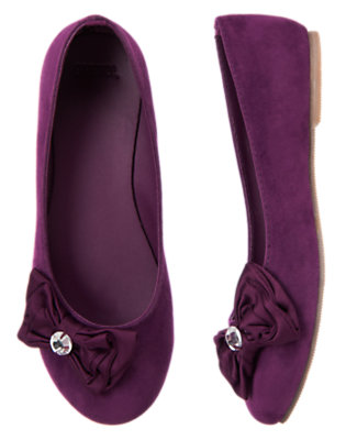 Princess Purple Gem Bow Ballet Flat by Gymboree