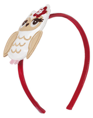 Girls Cranberry Red Owl Headband by Gymboree